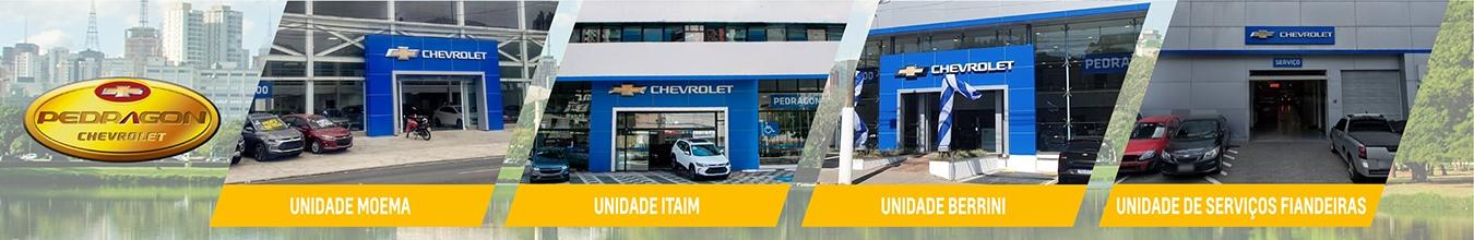 Venda e ofertas de carros novos e seminovos na concessionária Chevrolet Pedragon/SP. Peças genuínas GM, acessórios automotivos originais e serviços de manutenção e revisão de veículos.
