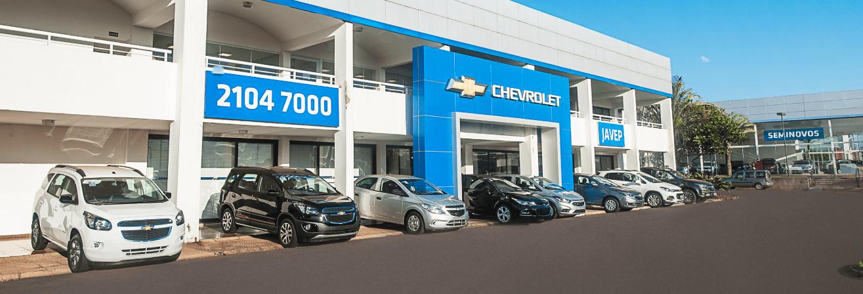 Venda e ofertas de carros novos e seminovos na concessionária Chevrolet Javep em Jaú. Peças genuínas GM, acessórios automotivos originais e serviços de manutenção e revisão de veículos.