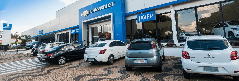 Venda e ofertas de carros novos e seminovos na concessionária Chevrolet Javep em São José do Rio Preto. Peças genuínas GM, acessórios automotivos originais e serviços de manutenção e revisão de veículos.