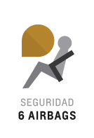 6 Airbags en Trailblazer