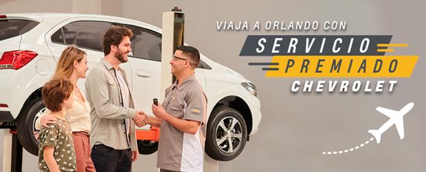 Sorteo de viaje a Orlando con Servicio Premiado Chevrolet