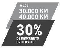 Service 30K y 40K con 30% de descuento
