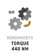 Torque 4400 nm del motor de la S10 Cabina Simple