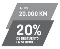 Service 20K con 20% de descuento