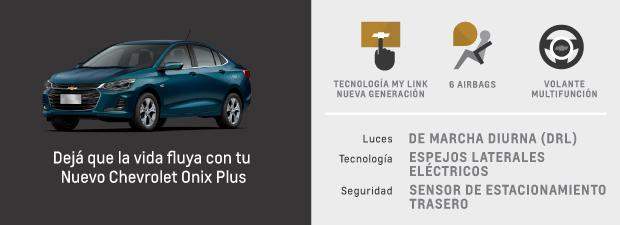 Caracteristicas de Nuevo Chevrolet Onix Plus