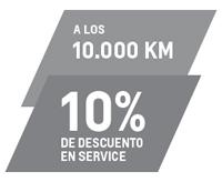 Service 10K con 10% de descuento