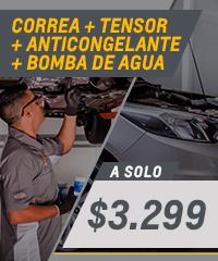 Oferta en correa, tensor, anticongelante y bomba de agua para Chevrolet Agile, Classic, Celta, Onix y Prisma