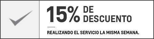 15% en Servicio Personalizado Chevrolet