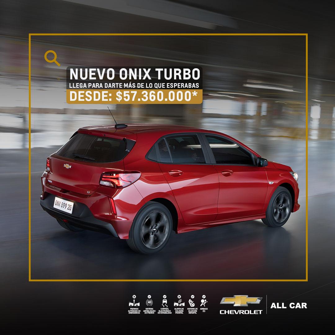 Chevrolet All Car - Nuevo Onix Turbo HB