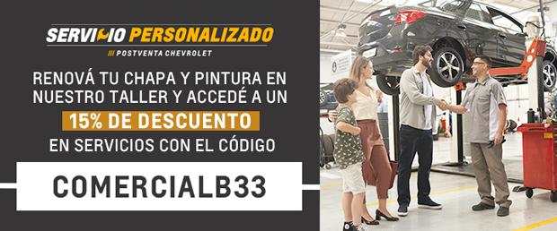 Código de descuento para Servicio Chevrolet en Río Grande y Ushuaia