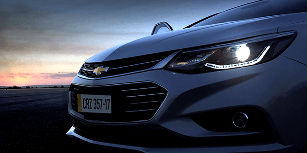 Farol de Led do novo Chevrolet Cruze 2019