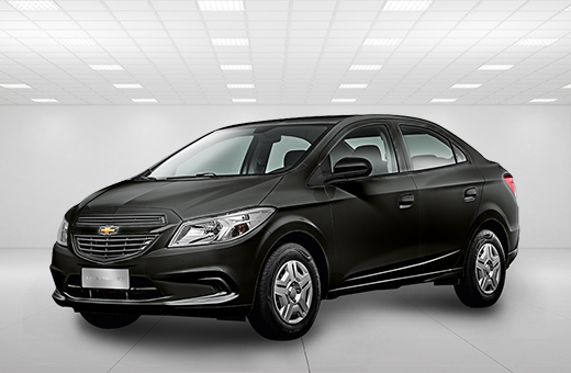 Cor do carro Chevrolet novo Prisma Joy Preto Ouro Negro 2017