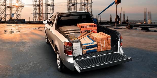 Caçamba carga trabalho Chevrolet Montana caminhonete 2020