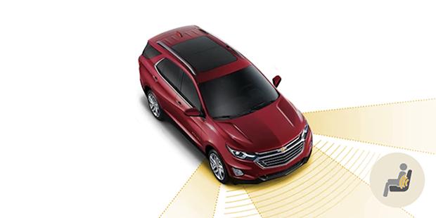 Banco do motorista com alerta de segurança Chevrolet Equinox 2019