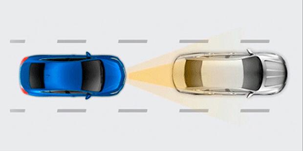 Alerta de colisão frontal Chevrolet Tracker 2019
