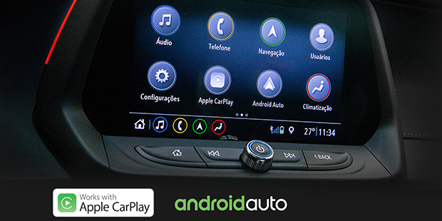 Apple Carplay e Android Auto no Novo Camaro Conversível 2019