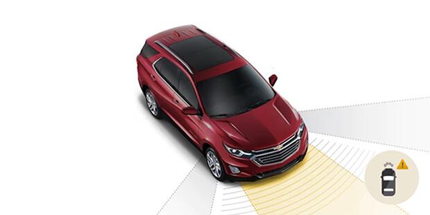 Alerta de detecção de pedestre frontal com auxilio de frenagem Chevrolet Equinox 2019