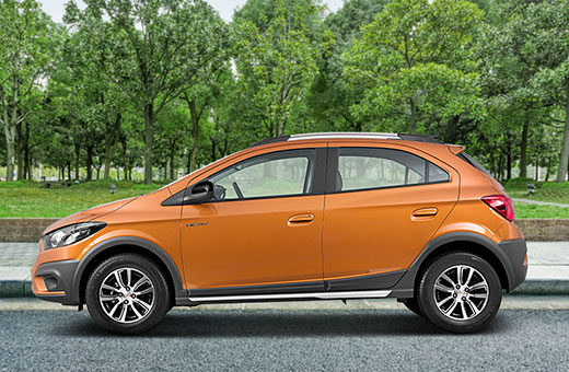 Cor do carro Chevrolet novo Onix Activ Laranja Burning 2017