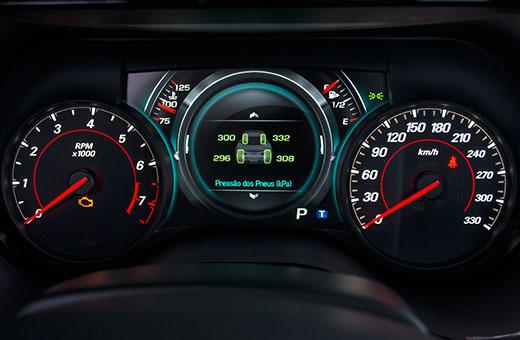 Velocímetro do novo Chevrolet Camaro Fifty 2017