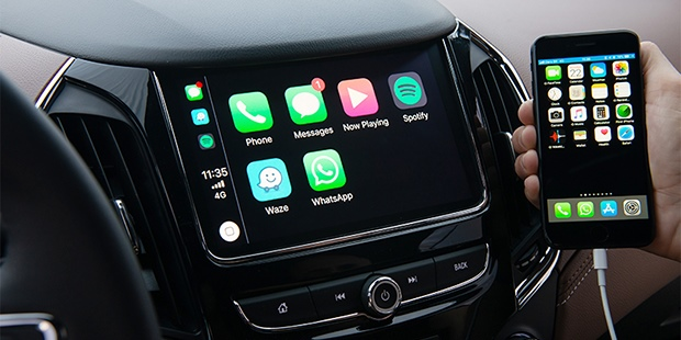 Chevrolet Cruze Sport6 2020 com Apple CarPlay para conectar iPhone