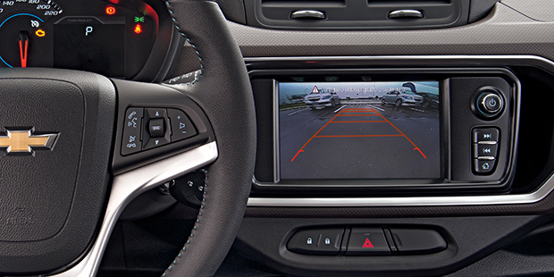Sensor de estacionamento da nova minivan Chevrolet Spin 2019