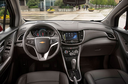 Interior novo SUV Chevrolet Tracker 2017