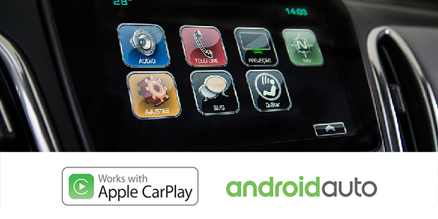 Android Auto Apple CarPlay do Chevrolet Equinox 2019