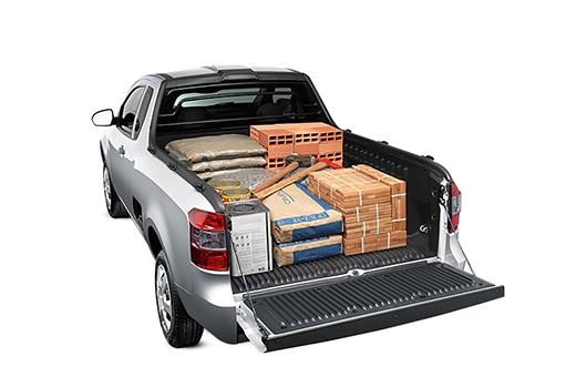 Caçamba pickup Montana para transportar materiais de construção