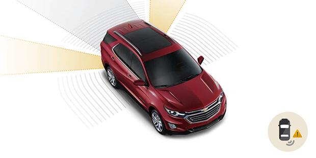 Alerta ponto cego com sensor de aproximação Chevrolet Equinox 2019