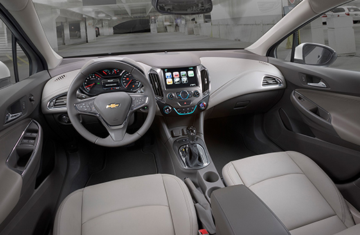 Parte interna do novo Chevrolet Cruze 2018