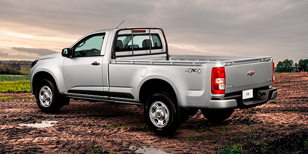Traseira e lateral Chevrolet S10 Cabine Simples 2019