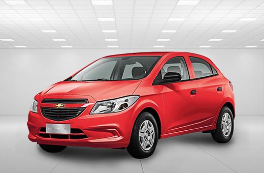Cor do carro Chevrolet novo Onix Joy Vermelho Chili 2018