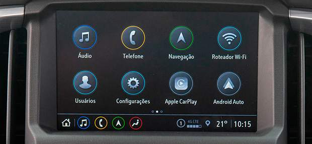 Tecnologia da nova picape Chevrolet S10 High Country 2021 com Wi-Fi