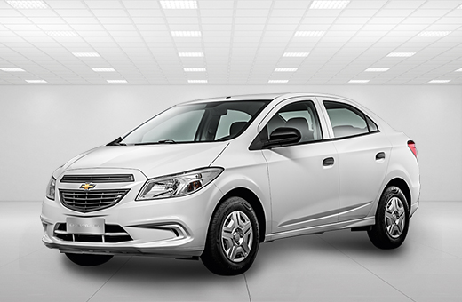 Cor do carro Chevrolet novo Prisma Joy Branco Summit 2017