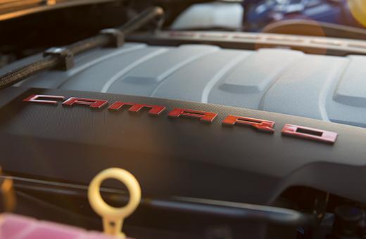 Motor v8 do Camaro conversível SS 2017