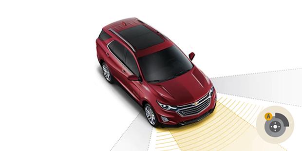 Frenagem automática Chevrolet Equinox 2019