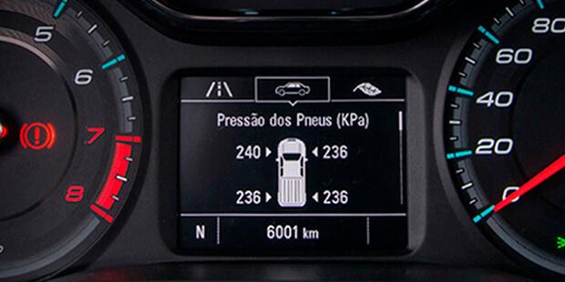 Alerta pressão pneus nova Chevrolet S10 Cabine Dupla