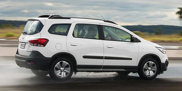 Design esportivo novo Spin Activ 2020 carro de 7 lugares da Chevrolet