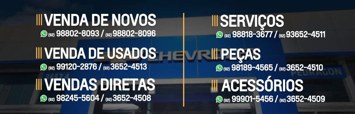 Venda e ofertas de carros novos e seminovos na concessionária Chevrolet Pedragon de Manaus / AM.  Peças genuínas GM, acessórios automotivos originais e serviços de manutenção e revisão de veículos.