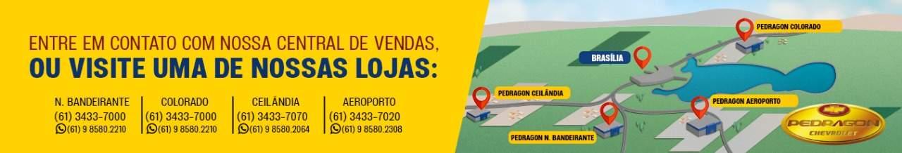 Venda e ofertas de carros novos e seminovos na concessionária Chevrolet Pedragon Brasília. Peças genuínas GM, acessórios automotivos originais e serviços de manutenção e revisão de veículos.
