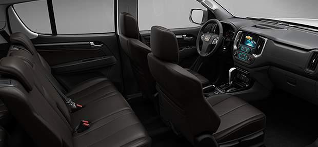 Design interno do novo SUV Chevrolet Trailblazer 2021 com 7 lugares