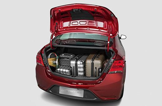 Porta-malas do Prisma 2019 vermelho