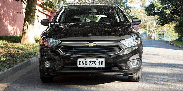 Frente do novo Chevrolet Onix 2019
