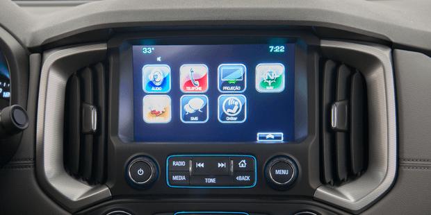 Central Multimídia MyLink da nova Chevrolet S10 Cabine Dupla 2019