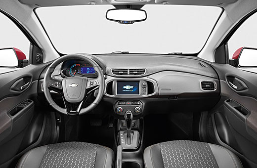 Interior do carro novo Chevrolet Prisma 2017