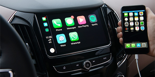 Conectar iPhone ao novo Cruze sedan 2020 com Apple CarPlay