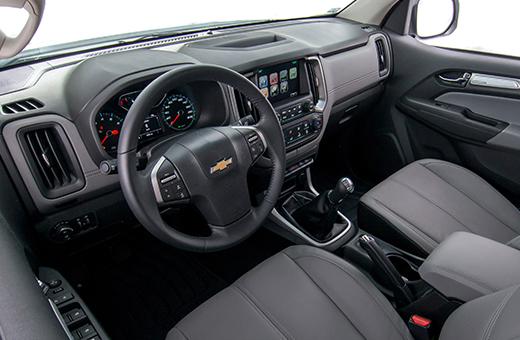 Parte interna da nova picape Chevrolet S10 Cabine Dupla 2018