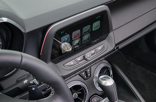 Tecnologia Chevrolet Mylink do Camaro conversível 2017