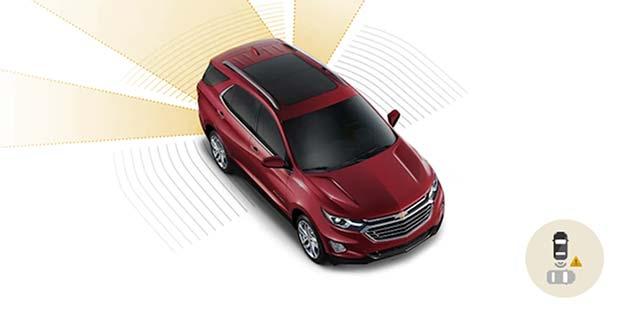 Alerta de movimentação traseira Chevrolet Equinox 2019
