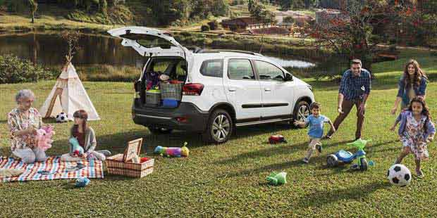 Novo carro de 7 lugares da Chevrolet Spin Activ 2019 para viajar com conforto